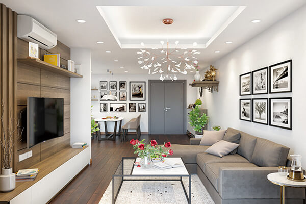 Báo giá thiết kế nội thất chung cư 70m2 uy tín chính xác
