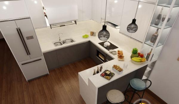 Tìm hiểu về đặc điểm và ưu điểm của tủ bếp acrylic cao cấp