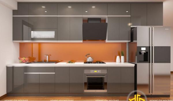 Mẫu tủ bếp acrylic 1
