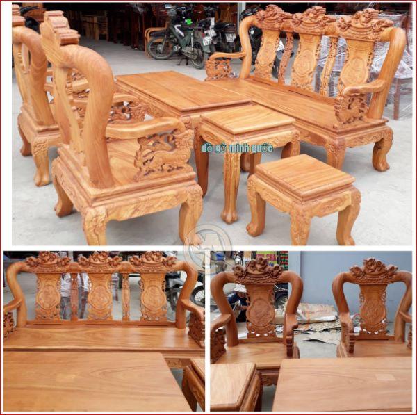 Những mẫu bộ bàn ghế gỗ gõ đỏ với những thiết kế rất đẹp và sang trọng