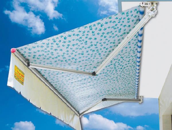 Mái che bạt xếp che nắng che mưa hiệu quả, tiết kiệm, dễ thi công lắp đặt