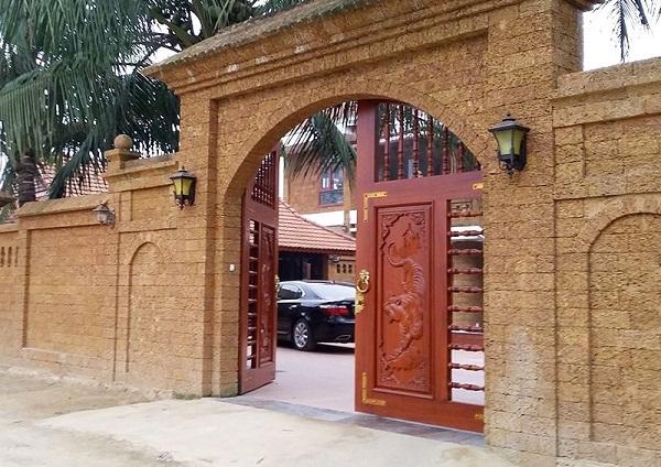 Mẫu cổng đẹp nhất được làm bằng đá