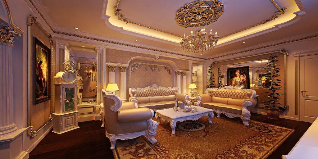 Biệt thự tân cổ điển – Sự quyến rũ của nội thất